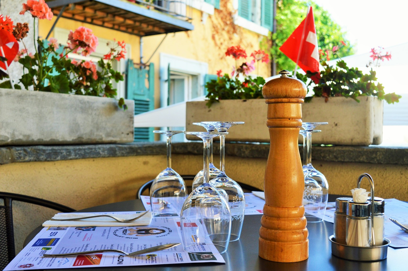 Restaurant amoureux calme morges